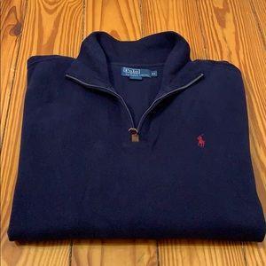 Polo by Ralph Lauren Navy Quarter Zip Sweater